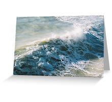 Waves at sea Greeting Card