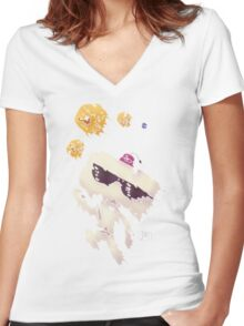 Hexahedrons Women's Fitted V-Neck T-Shirt