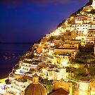 Positano Italy At Night by daphsam
