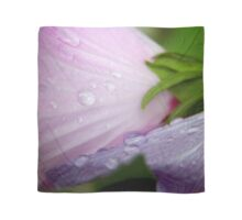 Pink and Purple Rose of Sharon Petals Macro Scarf