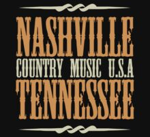 Nashville Tennessee Country Music Kids Tee