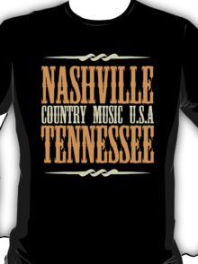 Nashville Tennessee Country Music T-Shirt