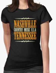 Nashville Tennessee Country Music Womens Fitted T-Shirt