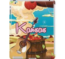 Kansas vintage cartoon travel poster iPad Case/Skin