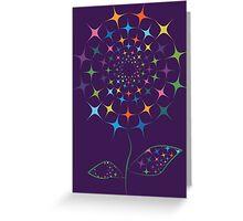 Shining abstract dandelion Greeting Card