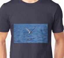 Blue Adriatic sea and gull Unisex T-Shirt