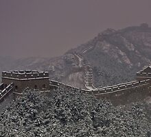 The Great Wall at JinShanLing by James Godber