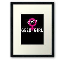 Geek Girl Framed Print