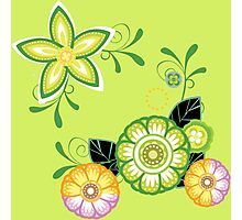 Cute patterned flowers Photographic Print