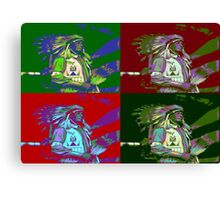 Indian Chief Pop Art 2 Canvas Print