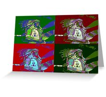Indian Chief Pop Art 2 Greeting Card