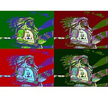 Indian Chief Pop Art 2 Photographic Print