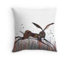 DASHING HARE Throw Pillow