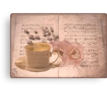 Musical compilation Canvas Print
