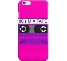 80s mix tape iPhone Case/Skin