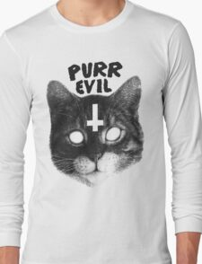 Purr Evil Cat Long Sleeve T-Shirt