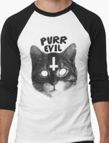 Purr Evil Cat Men's Baseball ¾ T-Shirt