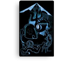 Blue Black Canvas Print
