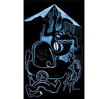 Blue Black Photographic Print
