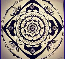 Indian Style Mandala Design by PeppermintInk
