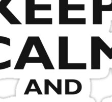 KEEP CALM AND BUY A BEER! Black on white Sticker