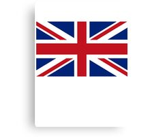 Flag of the United Kingdom, Union Jack, Britain, British flag, Pure & Simple Canvas Print