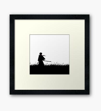 Kenshin Himura Framed Print