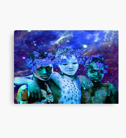 African Star Brothers Canvas Print