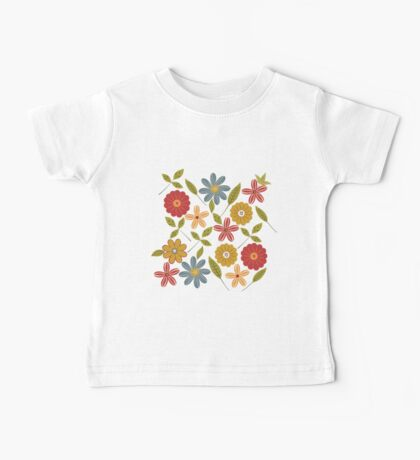 Painted flowers and leaves Baby Tee