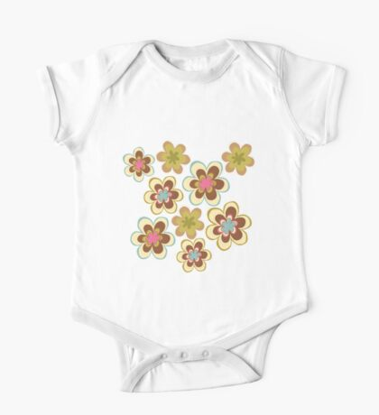 Painted yellow flowers One Piece - Short Sleeve