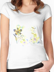 Abstract gradient flowers Women's Fitted Scoop T-Shirt