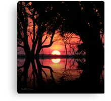 Sunset across the Pond Canvas Print