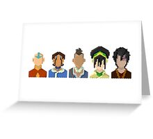 Avatar the Last Airbender Trixelart group Greeting Card