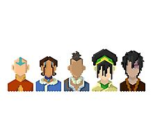 Avatar the Last Airbender Trixelart group Photographic Print