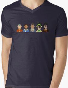 Avatar the Last Airbender Trixelart group Mens V-Neck T-Shirt