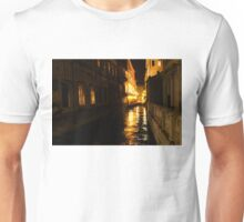 Golden Glow - Venice, Italy at Night Unisex T-Shirt