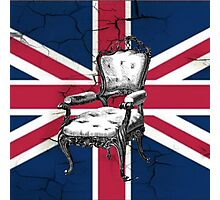 uk flag british union jack vintage rococo chair Photographic Print