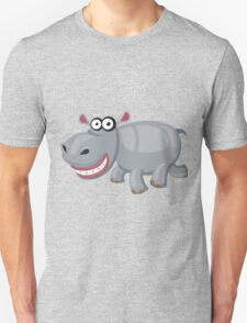 Smiling funny hippo Unisex T-Shirt