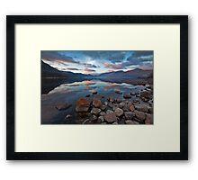 Sunrise over Derwent water Framed Print