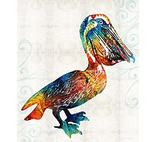 Colorful Pelican Art 2 by Sharon Cummings Photographic Print