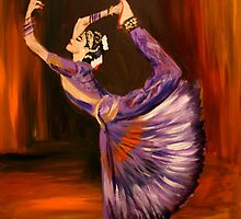 Indian Dancer. 20 x 24 Acrylic. by csoccio100