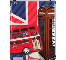 union jack london bus vintage red telephone booth iPad Case/Skin