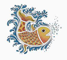 Orange Fish Kids Clothes