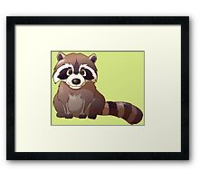 Little cute raccoon Framed Print