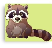 Little cute raccoon Canvas Print