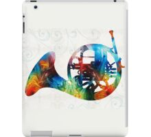 Colorful French Horn - Color Fusion By Sharon Cummings iPad Case/Skin