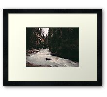 Johnston Canyon Framed Print