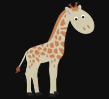 Watercolor baby giraffe Kids Clothes