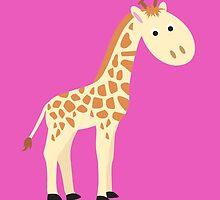 Watercolor baby giraffe by Olga Chetverikova
