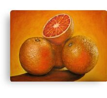 Oranges oil painting Canvas Print